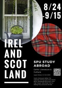 Ireland and Scotland Study Abroad Poster